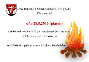 Pálenie vatry 28.8.2015