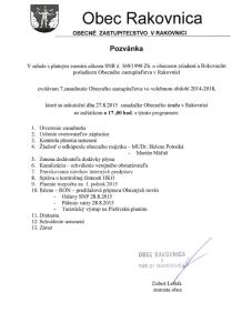 Pozvánka OZ 27.8.2015