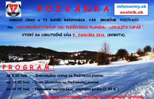 Výstup Plešivecká Planina 9.1.2016