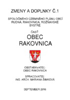 CELNA STRANA September 2016 Rakovnica Zmeny a doplnky UPN-O 1