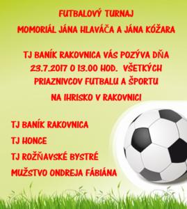 Futbalový turnaj 23.7.2017