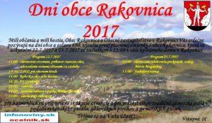 POZVÁNKA - DNI OBCE RAKOVNICA 2017